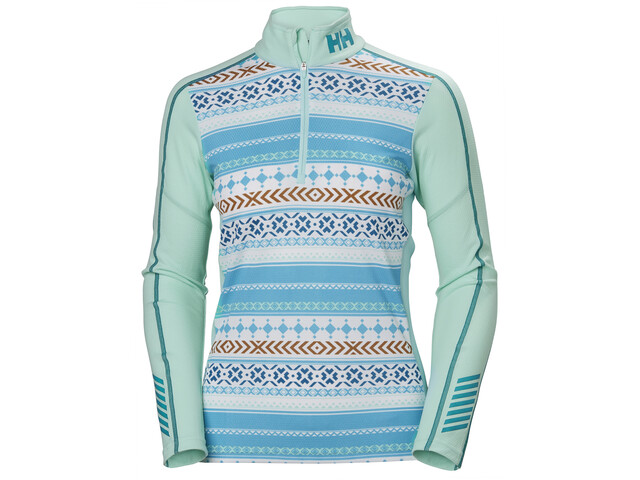 Helly Hansen Lifa Active Graphic Shirt met 1/2 rits Dames, blue tint